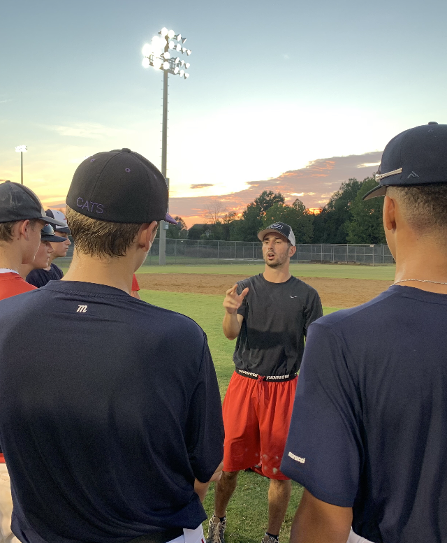 Coach Kyle Wrighte talking team basics, The Infield Academy